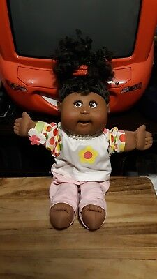 Cabbage Patch Kid Black  Doll With Eyelashes,Earrings RARE!