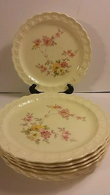 Antique Lunch Plates Taylor Smith & Taylor Discontinued 1900's  Set of 8 USA