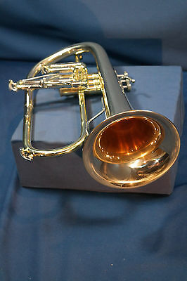 Bach Stradivarius 183 Flugelhorn with Gold Brass Bell in great condition 183G