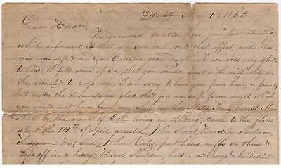 Two Letters to a Civil War Deserter who Escaped to Canada - 1863