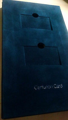 AMERICAN EXPRESS BLACK CENTURION CARD Box for two Cards AMEX ---RARE!!---
