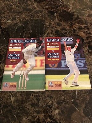 England Vs West Indies 1995 Second & Third Test Match Official Programmes