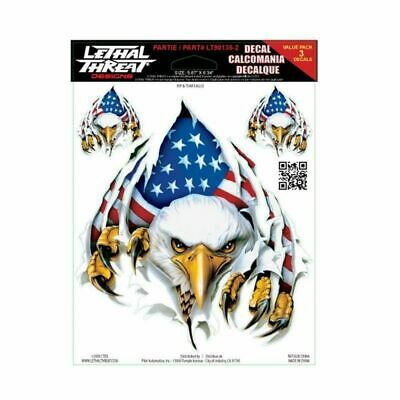 "Lethal Threat Feathered American Eagles Decal Sticker 6/"" x 18/"" Cars SUV Trucks"