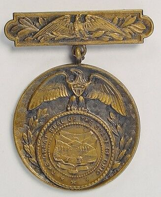 WW1 City of Massillon OH State of Ohio Veteran War Service Medal Local County