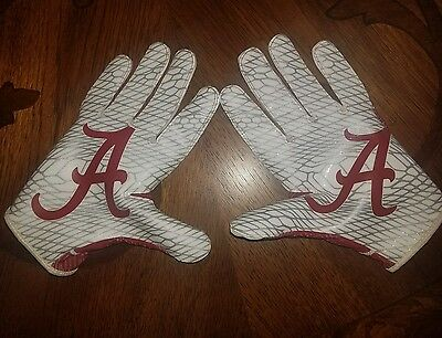 Alabama game worn Vapor Knit 2 2017 College Football Playoff team issued gloves