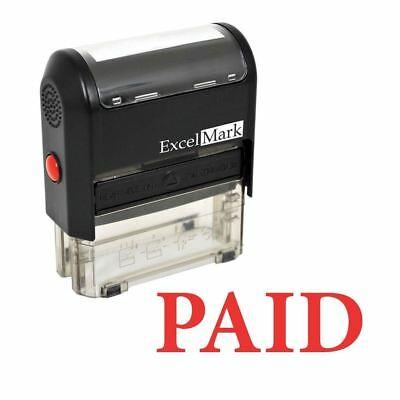 PAID - ExcelMark Self Inking Rubber Stamp A1539 - Red Ink