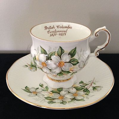 1871-1971 British Columbia  100 years Centennial Anniversary Tea Cup and Saucer