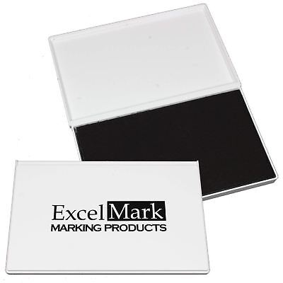"ExcelMark Extra Large Black Ink Pad for Rubber Stamps | 4-1/4"" by 7-1/4"""