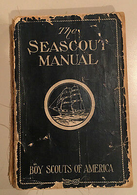Boy Scouts of America Seascout Manual Copyright 1929 + 2 Merit Badge Phamphlets