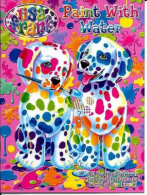 New LISA FRANK Paint with Water Book Color Toddler Girls Rainbows Horses Hearts