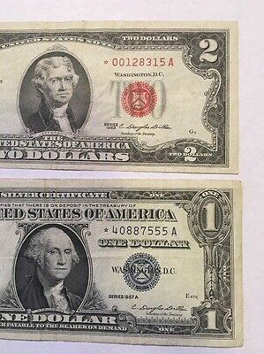 2 Star Notes 1963 $2 & 1957a $1 STARS