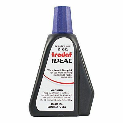 Trodat Ideal Self Inking Rubber Stamp Premium Replacement Ink 2 oz   Violet Ink