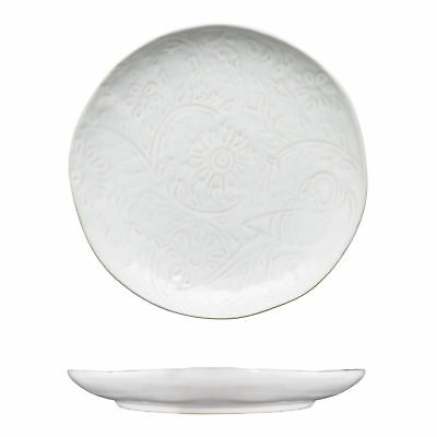 12x Tablekraft Vilamoura Goa Blanc Round Plate Coupe 275mm White Patterned