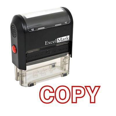 COPY - ExcelMark Self Inking Rubber Stamp A1539 - Red Ink