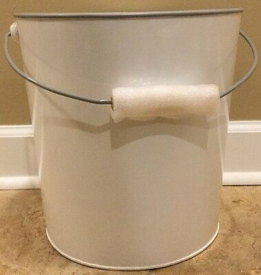 NEW Pottery Barn Kids Enamel Toy Dump Storage Bucket WHITE
