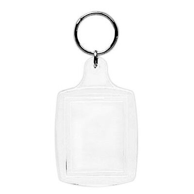 "Acrylic Photo Snap-in Key Chain - 1 3/8 X 1 3/4"" (Pack of 25)"