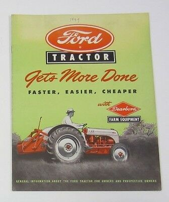 Ford Tractor Brochure Excellent