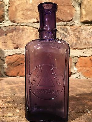Purple Grand Union Tea Company Bottle Over 100 Years Old!!