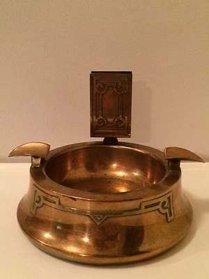 Antique Silver Crest arts and crafts style  bronze cigar ashtray