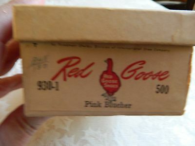 Vintage Red Goose Shoe Box