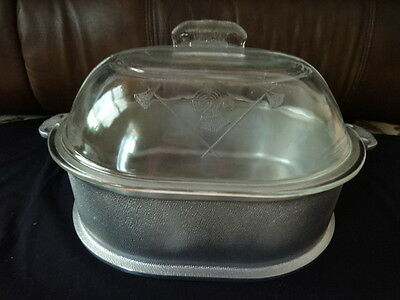 Vintage Guardian Service Roaster with Glass Lid