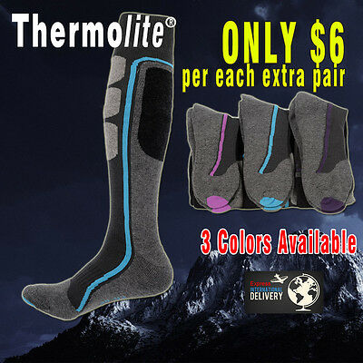 PERYSHER Active Sports Socks: Thermolite Unisex Ski / Hiking Socks - Size M