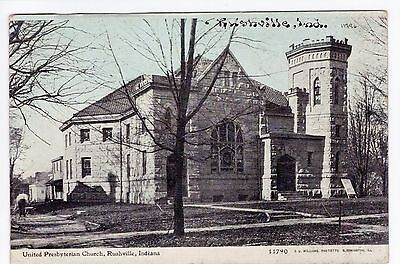 Vintage Rushville, IN Postcard - United Presbyterian Church - Unposted