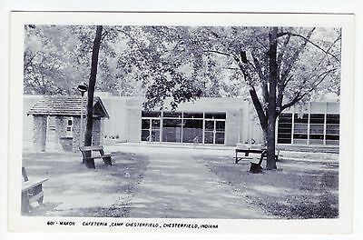 Vintage RPPC Chesterfield, IN Postcard - Cafeteria, Camp Chesterfield - Unposted