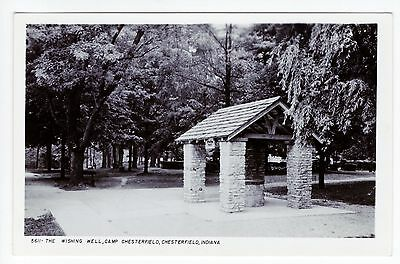 Vintage RPPC Chesterfield, IN Postcard - The Wishing Well - Unposted