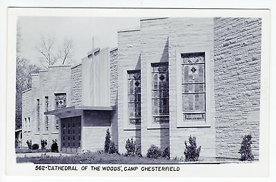 Vintage RPPC Chesterfield, IN Postcard - Cathedral of the Woods - Unposted