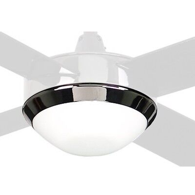 NEW Hunter Pacific Icon Ice Ceiling Fan Light Kit - Twin E14 - Black Ice - Icon