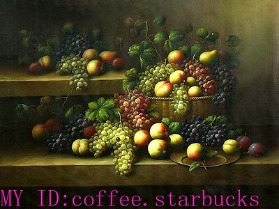 """Art Repro oil painting:""""Classic Fruit Still Life at canvas"""" 24x36 Inch #029"""