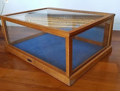 Antique Sun Manufacturing Company Oak & Glass Counter Top Display Case