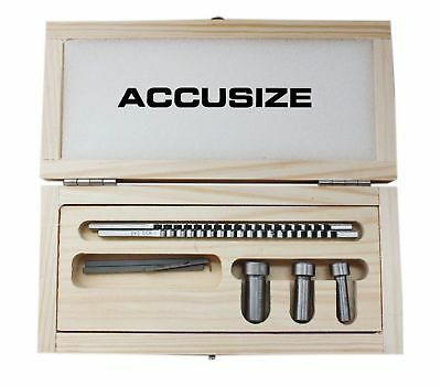 Accusize - No.60 Metric HSS Keyway Broach Sets in Fitted Box #5100-0060
