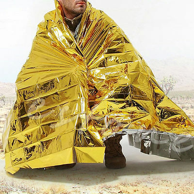 1Pc Outdoor Waterproof Emergency Survival Foil Thermal First Aid Rescue Blanket