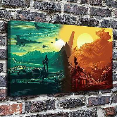 "12""x22""Star Wars Paintings HD Print on Canvas Home Decor Wall Art Pictures poste"