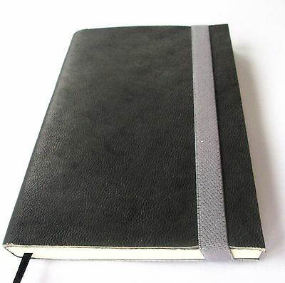 Notebook Blank Journal Genuine Grey Leather soft Handmade Pocket 100 pages