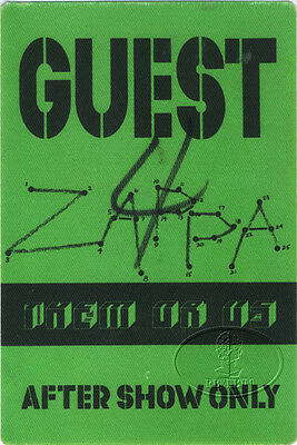 FRANK ZAPPA 1984 Them Or Us Tour Backstage Pass