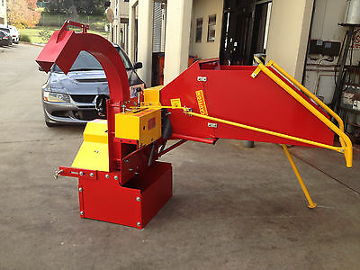 """Wood Chipper for Tractor, 8"""" Shredder, Mulcher, PTO drive for 3PL, Auto Feed"""