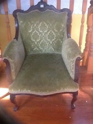 1860s Antique Grandfather arm chair. victorian, walnut.