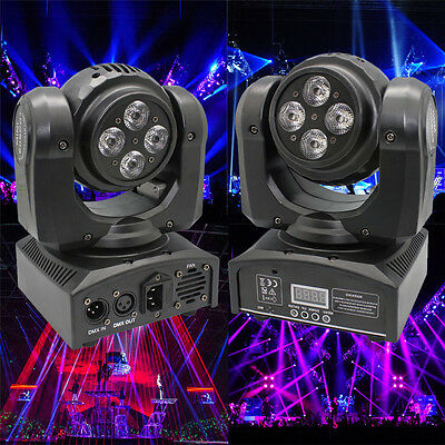 80W Double Sides RGBW 8 LED Moving Head Stage Light DMX DJ Disco Party Lighting