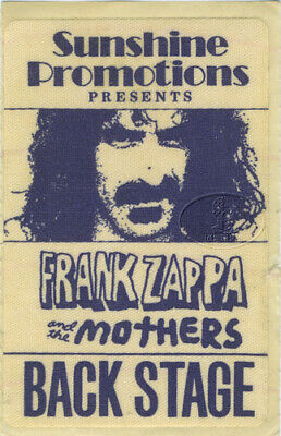 FRANK ZAPPA & Mothers 1971 Backstage Pass