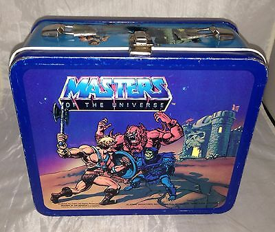 HE-MAN MASTERS OF THE UNIVERSE METAL LUNCHBOX 1983 MATTEL ALADDIN No Handle