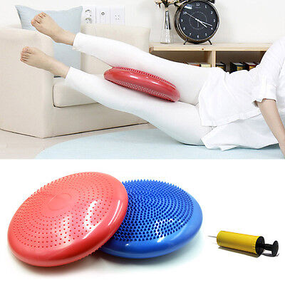 Women Fitness Stability Workout Air Cushion Balance Disc Yoga Massage Pad+Pump