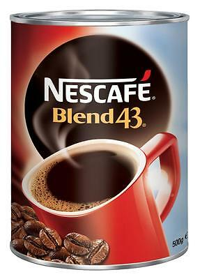 2 x Nescafe Blend 43 Instant Coffee Tin 500g Nestle Free Postage !