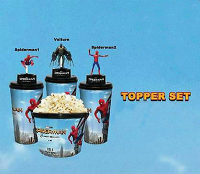Spiderman Homecoming 2017 Movie Cup + Topper Set 44 Oz. Limited Theater Thai