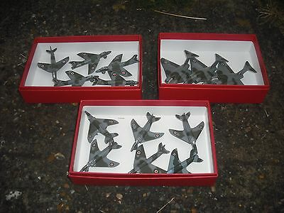 Dinky aircraft 3 javlins 5 swifts 6 hunters. all in good condition.
