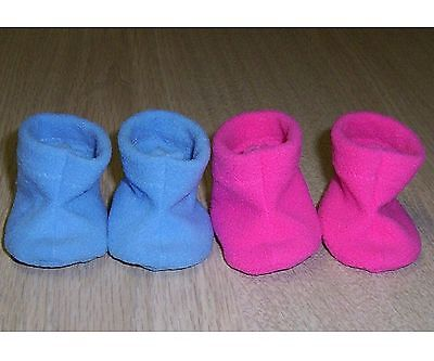 """SHOES / BOOTS 43cm 16/ 17"""" BABY BORN 2 Pair Foot 5.6cm DOLLS CLOTHES SLIPPERS"""