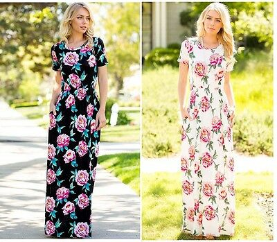 MAXI Floral Dress,Maternity suitable,Maternity Evening Party Dress Long Rose