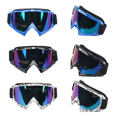 Super Color Motorcycle Dirt Bike ATV Motocross Racing Goggles Eyewear Adult New